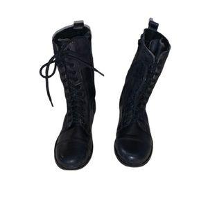 Steve Madden Troopa Black Combat Boots 7